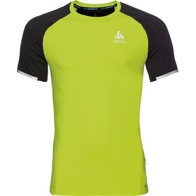 Odlo Zeroweight Ceramicool Crew Neck SS Shirt Men acid lime-black